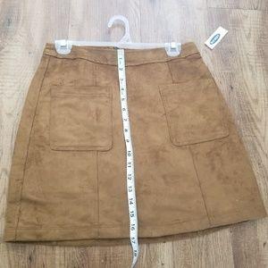 Suede like skirt